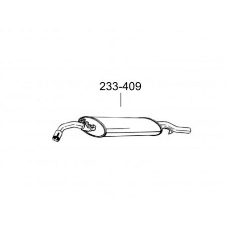 Глушитель Фольксваген Гольф II (Volkswagen Golf II) 1.1/1.3 85-92 (233-409) Bosal 30.09 алюминизированный