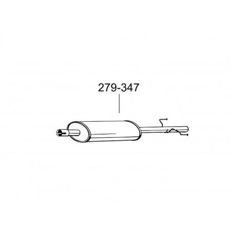 Глушитель Фольксваген ЛТ (Volkswagen LT) 96- 2.5SDi/2.5TDi/2.8TDi Мерседес Спринтер (Mercedes Sprinter) 2.9 TD (279-347) Bosal 30.232 алюминизированный