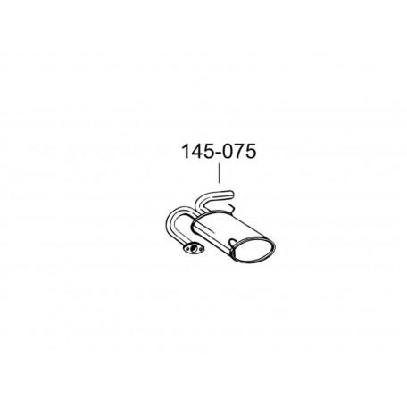 Глушитель Ниссан Икс-Треил (Nissan X-Trail) 01-08 (145-075) Bosal 15.30 алюминизированный