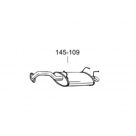 Глушитель Ниссан Примера (Nissan Primera) 02-04 (145-109) Bosal 15.39 алюминизированный