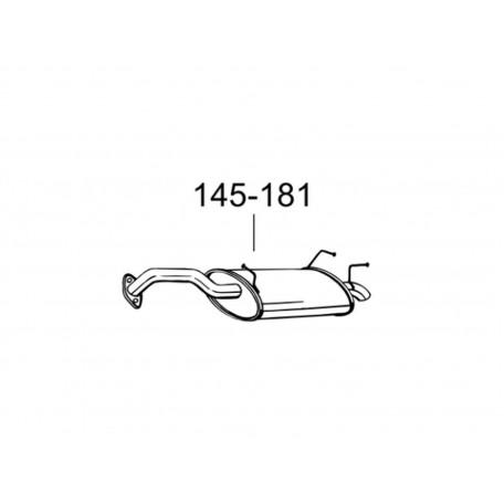 Глушитель Ниссан Примьера (Nissan Primera) 02-08 (145-181) Bosal 15.40 алюминизированный