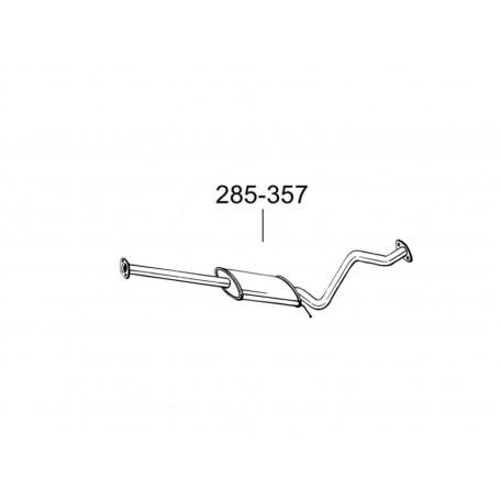 Глушитель передний Хюндай Гетз (Hyundai Getz) 02-15 (285-357) Bosal 10.66 алюминизированный