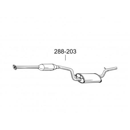 Глушитель передний Мазда 3 (Mazda 3) 03-14 (288-203) Bosal 12.14 алюминизированный