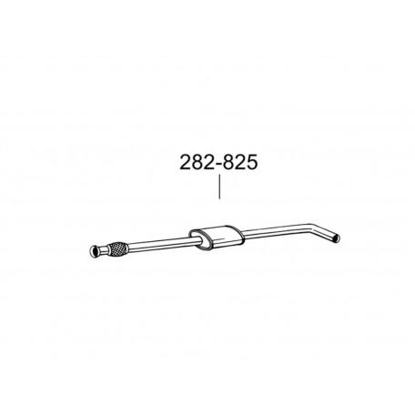 Глушитель передний Рено Меган I (Renault Megane I)/Рено Сценик I (Renault Scenic I) 1.4i; 1.6i kat 95 (282-825) Bosal 21.67 алюминизированный