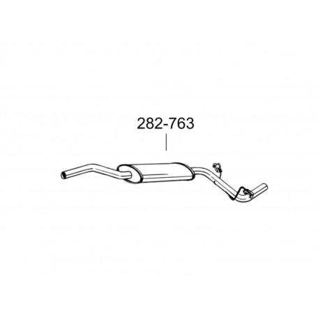 Глушитель передний Шкода Фелиция (Skoda Felicia) 1.3i kat. 98-01 (282-763) Bosal 24.36 алюминизированный