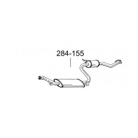 Глушитель передний Вольво С40/В40 (Volvo S40/V40) (31.250) 1.6i -16V; 1.8i -16V; 2.0i -16V 00-01 (284-155) Bosal 31.250 алюминизированный