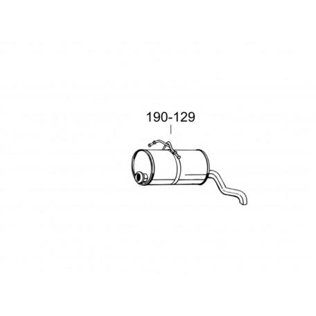 Глушитель Ситроен Берлинго (Citroen Berlingo)/Пежо Партнер (Peugeot Partner) 96-12 (190-129) Bosal 04.130 алюминизированный