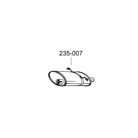 Глушитель Вольво 700, 900 серии (Volvo 700, 900 series) 83-98 (235-007) Bosal алюминизированный