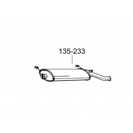 Глушитель задний Ситроен Ксара (Citroen Xsara) 1.4i/1.6i/1.8i/1.5D/1.8D/1.9D HB 97-99 (135-233) Bosal 04.138 Алюминизированный