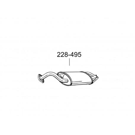 Глушитель задний Тойота Королла (Toyota Corolla) 1.4D 8V 04 - 07 (228-495) Bosal 26.271 алюминизированный