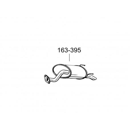 Глушитель Хонда Джаз (Honda Jazz) 01-08 1.2/1.4 (163-395) Bosal 09.121 алюминизированный