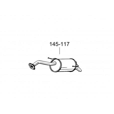 Глушитель Ниссан Микра (Nissan Micra) 03-05 (145-117) Bosal алюминизированный