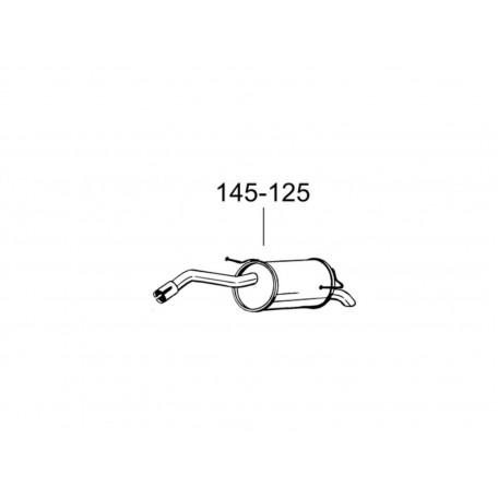 Глушитель Ниссан Микра (Nissan Micra) 05- (145-125) Bosal алюминизированный