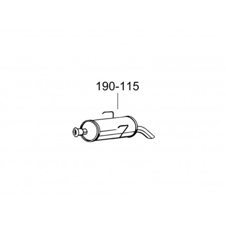 Глушитель Пежо 106 (Peugeot 106) 00-04 (190-115) Bosal алюминизированный