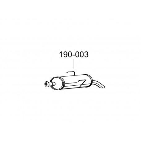 Глушитель Пежо 106 (Peugeot 106) 94-96 (190-003) Bosal алюминизированный