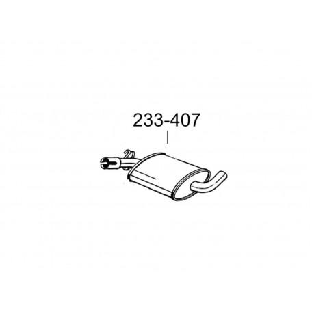 Резонатор (средний глушитель) Ауди А1 (Audi A1) / Сеат Ибица (Seat Ibiza) / Шкода Фабиа (Skoda Fabia) / Фольксваген Поло (VW Polo) (220-015) - Bosal