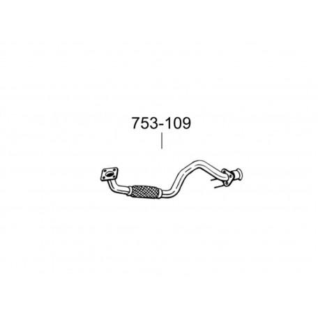 Труба Фольксваген Гольф IV (Volkswagen Golf IV) 99-02 (753-109) Bosal алюминизированная