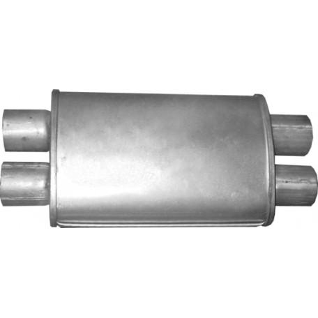 Бочка глушителя универсальная ( 280x180x95 ; 4xd=55 )