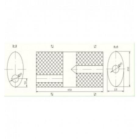 Бочка глушителя универсальная ( 210x110x450 ; 2*d= 45 )
