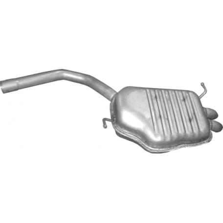Глушитель Ауди А4 (Audi A4) 1.9 Turbo Diesel Sedan, Kombi 01-04 (01.130) Polmostrow алюминизированный