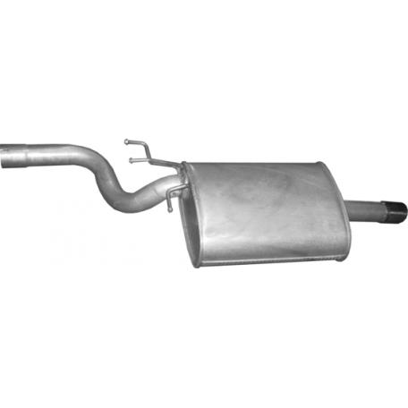 Глушитель BMW 5 Е39 520i/523i 95-98 (03.33) Polmostrow алюминизированный