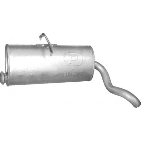 Глушитель Ситроен Берлинго (Citroen Berlingo) / Пежо Партнер (Peugeot Partner) 1.1i/1.4i/1.6i 10/03-08 (04.130) Polmostrow алюминизированный
