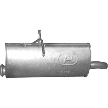 Глушитель Ситроен Берлинго (Citroen Berlingo) / Пежо Партнер (Peugeot Partner) 1.6 D/2.0 D 02-08 (04.132) Polmostrow алюминизированный