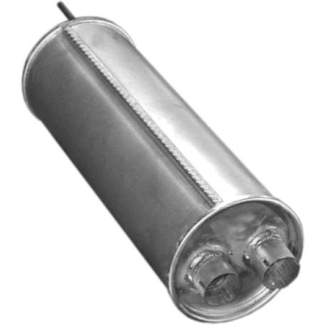 Резонатор Ситроен БХ (Citroen BX) 1.1/ 1.4/ 1.6/ 1.8D/ 1.9/ 1.9D 82 -94 (04.15) Polmostrow алюминизированный