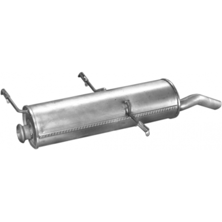 Глушитель Ситроен ЗХ (Citroen ZX) 1.4/1.6i/1.9D kombi kat 94-98 (04.89) Polmostrow алюминизированный