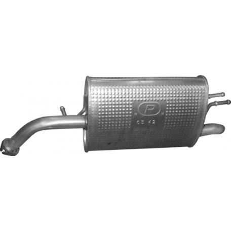 Глушитель Шевроле Спарк (Chevrolet Spark) 1.0 /09- (05.42) Polmostrow алюминизированный