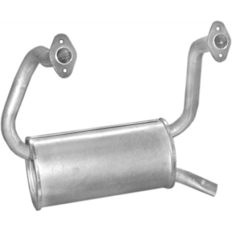 Глушитель Фиат 126 (Fiat 126) 87- 650 R 87-96 FL (07.02) Polmostrow алюминизированный