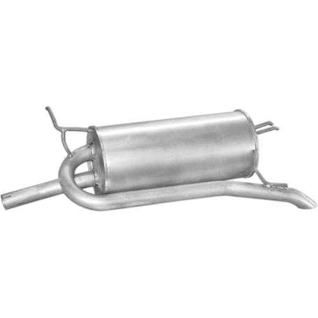 Глушитель Фиат Палио (Fiat Palio) 1.2i; 1.6i 97-99; 1.9D 01-03 (07.168) Polmostrow алюминизированный