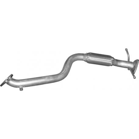 Труба приемная Фиат Мултипла (Fiat Multipla) 1.9 TD 02-10 (07.18) Polmostrow алюминизированная