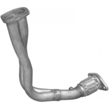 Труба приемная Фиат Палио, Сиена (Fiat Palio , Siena) 1.6 - 16V 97-98 (07.307) Polmostrow алюминизированный