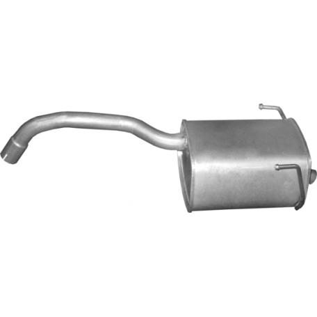 Глушитель Фиат Панда 2 (Fiat Panda 2) 1.2 12- (07.42) Polmostrow алюминизированный