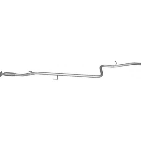 Труба средняя с гофрой Фиат Добло (Fiat Doblo) 1.4i 05-09 (07.452) Польша Polmostrow алюминизированный