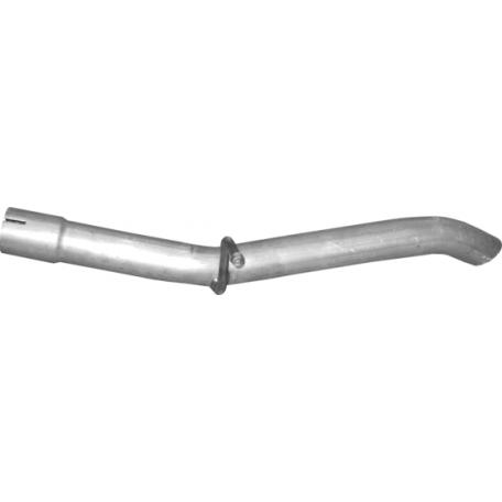 Труба конечная Fiat Fiorino II/ Fiat Qubo II/Citroen Nemo/Peugeot Bipper (Фиат Фиорино 2/Фиат Кубо/Ситроен Немо/Пежо Биппер) 1.4 08- (07.47) Polmostrow алюминизированная