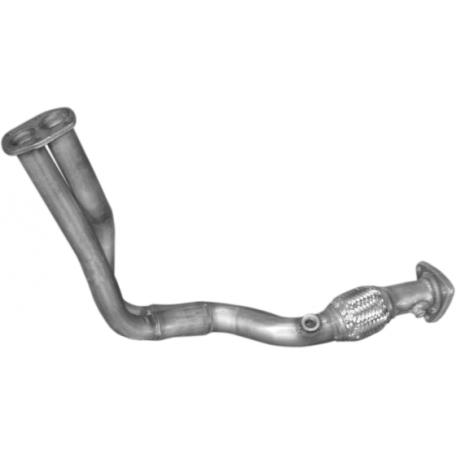 Труба приемная Фиат Браво, Брава, Мареа (Fiat Bravo , Brava , Marea) 1.6 16V 95-03 (07.510) Polmostrow алюминизированный