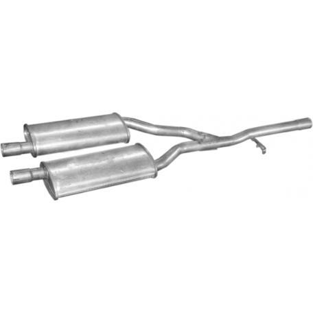 Резонатор Форд Таунус (Ford Taunus) 76-83 2.0/2.3 (08.383) Polmostrow алюминизированный