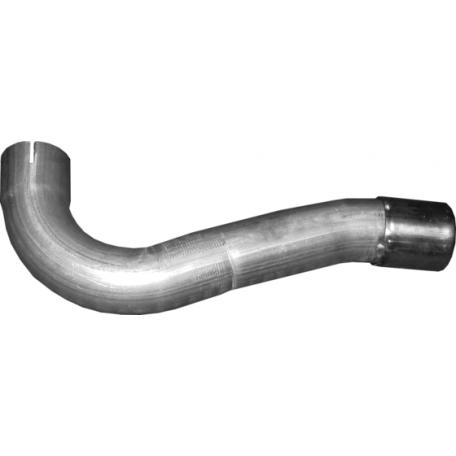 Труба конечная Форд Куга (Ford Kuga) 2.0 D 08 - 12 (08.73) Polmostrow алюминизированный