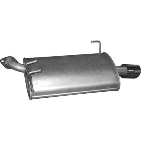 Глушитель задний левый Хонда Аккорд (Honda Accord) 03-08 2.4i 16V Polmostrow (09.144) алюминизированный