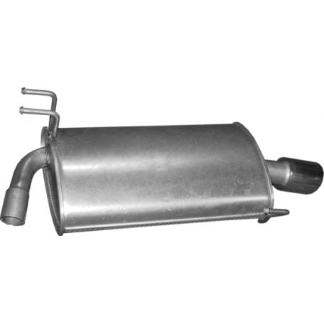 Глушитель задний правый Хонда Аккорд (Honda Accord) 03-08 2.4i 16V Polmostrow (09.145) алюминизированный