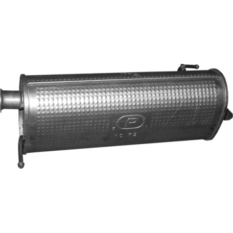 Глушитель Хюндай И20 (Hyundai I20) 1.2 08-14 (10.72) Polmostrow алюминизированный