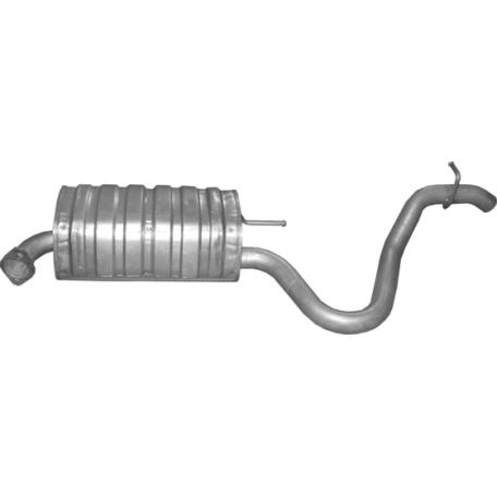 Глушитель Хюндай И30 (Hyundai I30) 1.6D/2/0D, /2007 - 8/2012 (10.78) Polmostrow алюминизированный