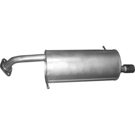 Глушитель задний Мазда 2 (Mazda 2) 1.3, 1.5 07-15 (12.09) Polmostrow алюминизированный