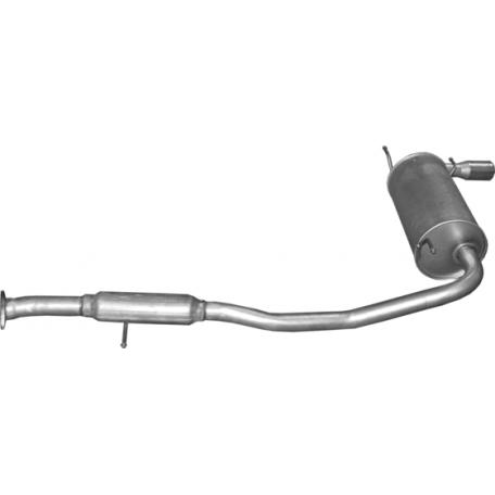 Глушитель задний Мазда МХ5 (Mazda MX5) 1.6 16V 94-98 (12.11) Polmostrow алюминизированный