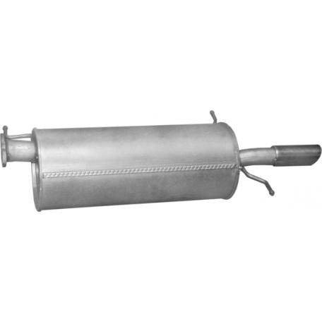 Глушитель Мазда 626 (Mazda 626) 2.0i -16V 97-04 (12.209) Polmostrow алюминизированный
