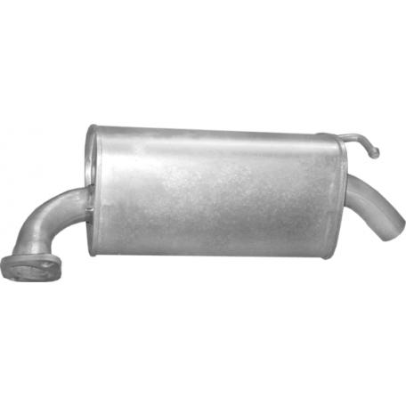 Глушитель Мазда 6 (Mazda 6) прав. 2.0/2.3 05-07 (12.216) Polmostrow алюминизированный