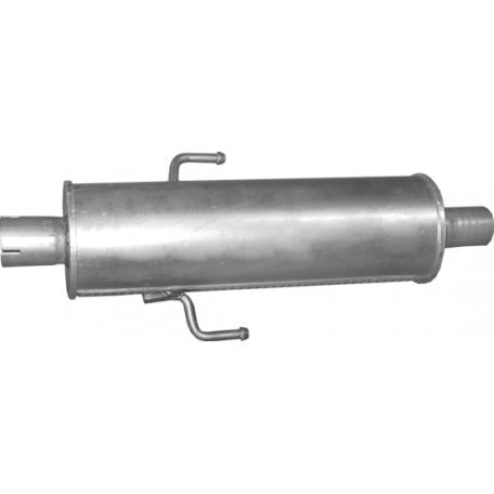 Резонатор ремонтный Мазда 6 (Mazda 6) 1.8i/2.0i/2.3i-16V 02-07- (12.217) Polmostrow алюминизированный