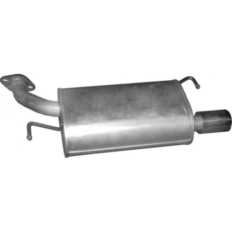 Глушитель Мазда 6 (Mazda 6) 1.8/2.0/2.5 07- (12.28) Polmostrow алюминизированный